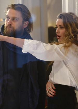 Amber Heard: Alice In Wonderland Themed Window Unveiling -21