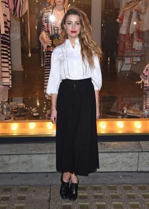 Amber Heard: Alice In Wonderland Themed Window Unveiling -27