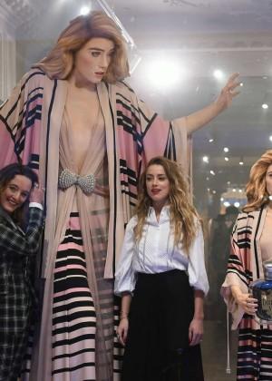 Amber Heard: Alice In Wonderland Themed Window Unveiling -33