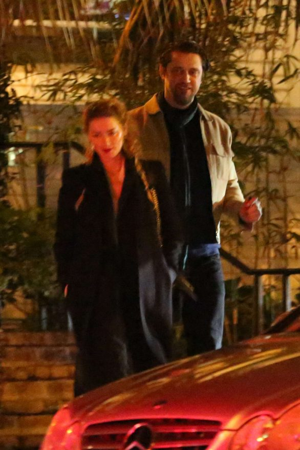 Amber Heard and boyfriend Andy Muschietti at the San Vicente Bungalows in West Hollywood