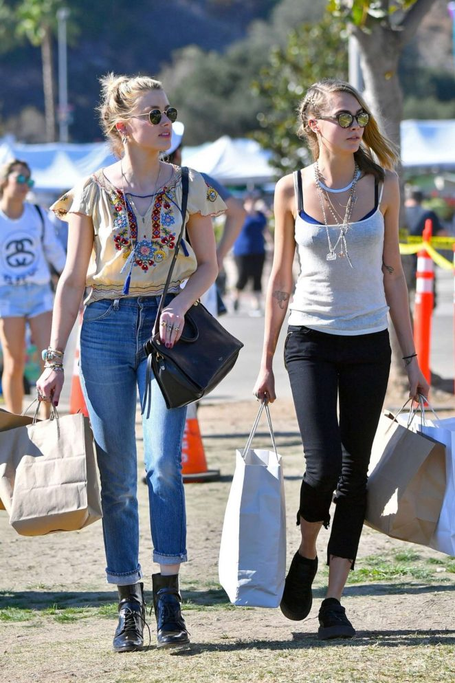 Amber Heard and Cara Delevingne - Shopping in Los Angeles