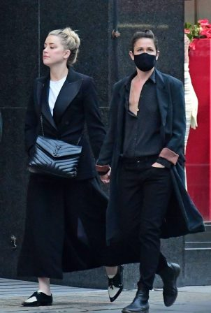 Amber Heard and girlfriend Bianca Butti - Out in Central London