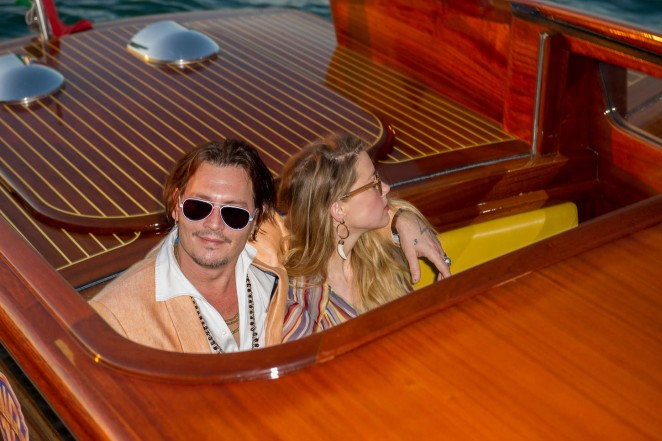 Amber Heard and Johnny Depp Out in Venice -01