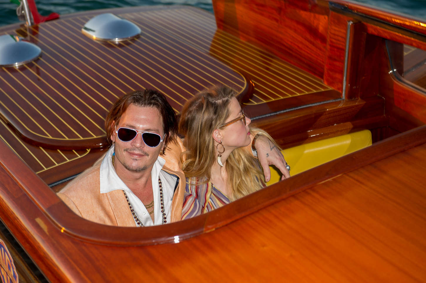 Amber Heard 2015 : Amber Heard and Johnny Depp Out in Venice -01