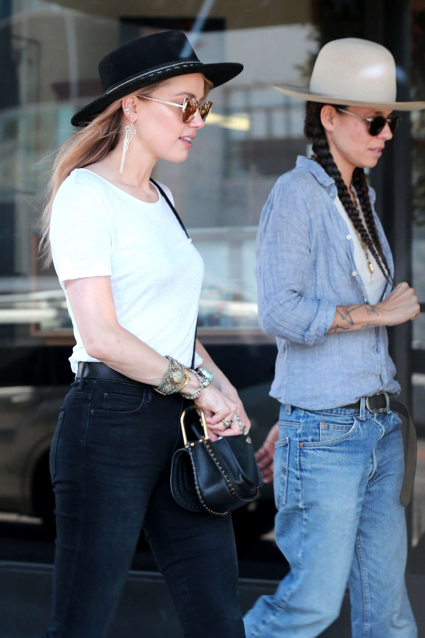 Amber Heard And Tasya Van Ree Shopping 01 Gotceleb