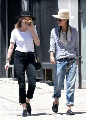 Amber Heard and Tasya Van Ree shopping in Hollywood
