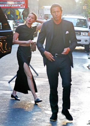 Amber Heard and Vito Schnabel - Heading to Springsteen in NYC