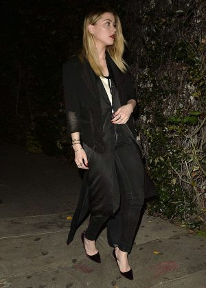 Amber Heard - Arrives at #adecxwarby Launch Party in Los Angeles