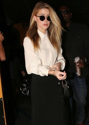 Amber Heard - Arrives at court in Century City