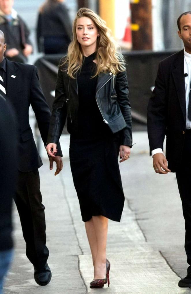 Amber Heard: Arrives at Jimmy Kimmel Live -03