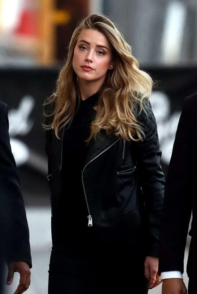 Amber Heard: Arrives at Jimmy Kimmel Live -06