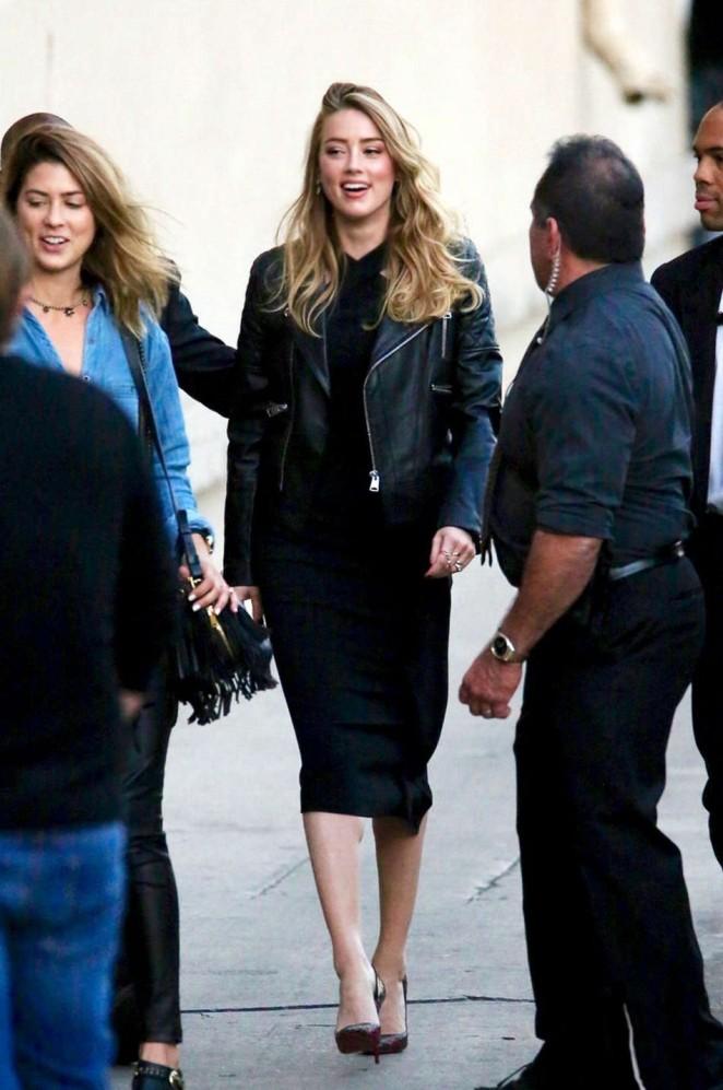Amber Heard: Arrives at Jimmy Kimmel Live -09