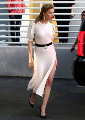 Amber Heard - Arrives at Univision Headquarters in Miami