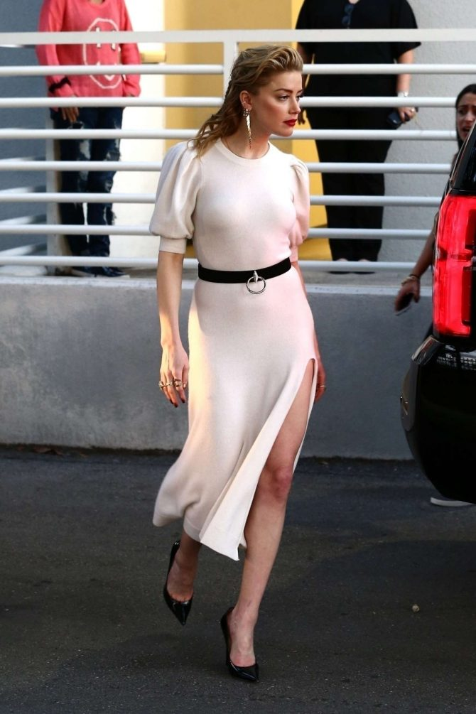 Amber Heard – Arrives at Univision Headquarters in Miami