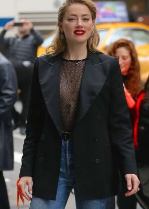 Amber Heard - Arriving at AOL Build Series in New York