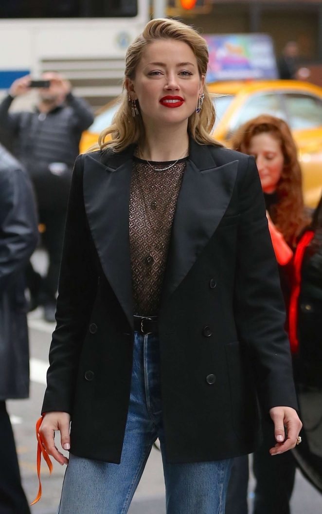 Amber Heard – Arriving at AOL Build Series in New York