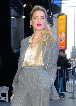 Amber Heard - Arriving at 'Good Morning America' studios in NYC