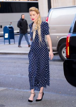 Amber Heard - Arriving at 'Live With Kelly and Ryan' in NY