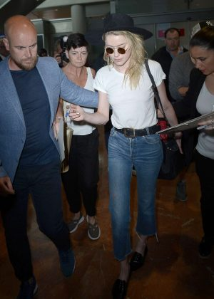 Amber Heard - Arriving at Nice Airport