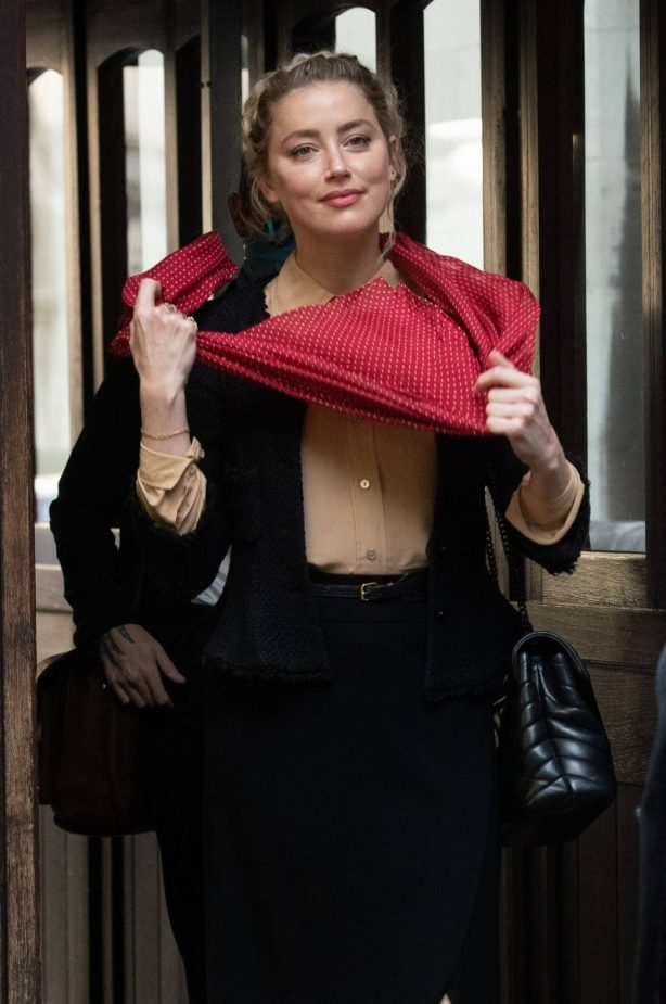Amber Heard - Arriving at the Royal Courts of Justice in London