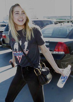 Amber Heard at LAX Airport in LA