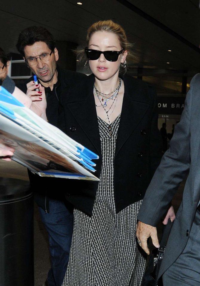 Amber Heard at LAX International Airport in LA