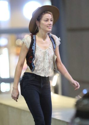 Amber Heard at LAX International Airport in Los Angeles