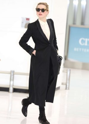 Amber Heard at Narita International Airport in Japan