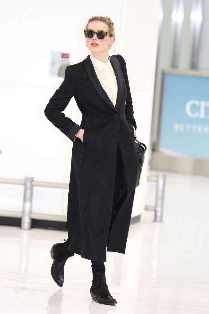 Amber Heard at Narita International Airport in Japan