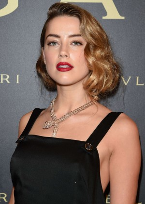 Amber Heard - Bulgari Haute Couture Cocktail Party & Model Show in Paris