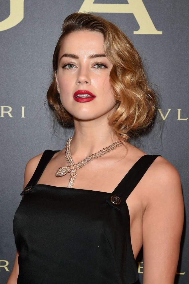 Amber Heard - Bulgari Haute Couture Cocktail Party & Model Show in Paris