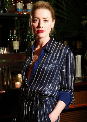 Amber Heard - Conversations for Change Dinner Honoring Lisa Borders in NY