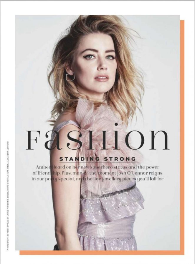 Amber Heard for Marie Claire UK Magazine (December 2018)