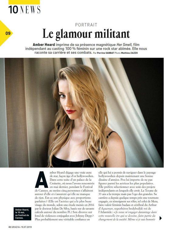 Amber Heard - Grazia France Magazine (July 2019)