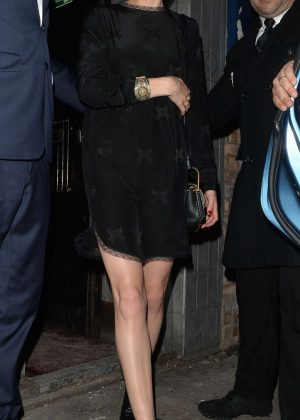 Amber Heard In Black Mini Dress Out In London Gotceleb