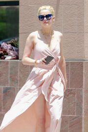 Amber Heard in Long Dress - Out in Los Angeles
