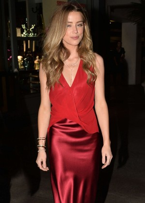 Amber Heard in Red at Adderall Diaires Premiere in Hollywood