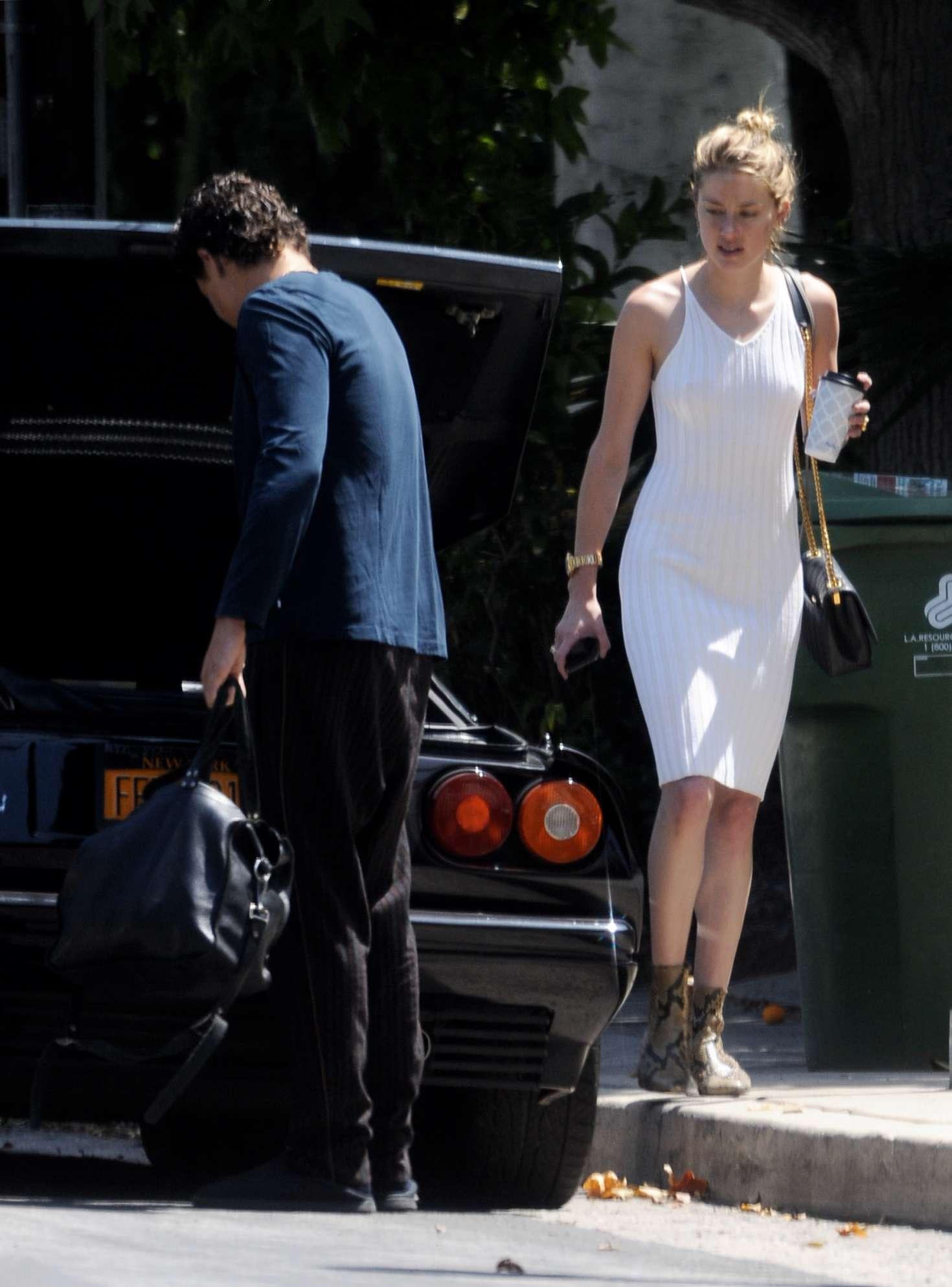 Amber Heard 2018 : Amber Heard in Tight White Dress -06