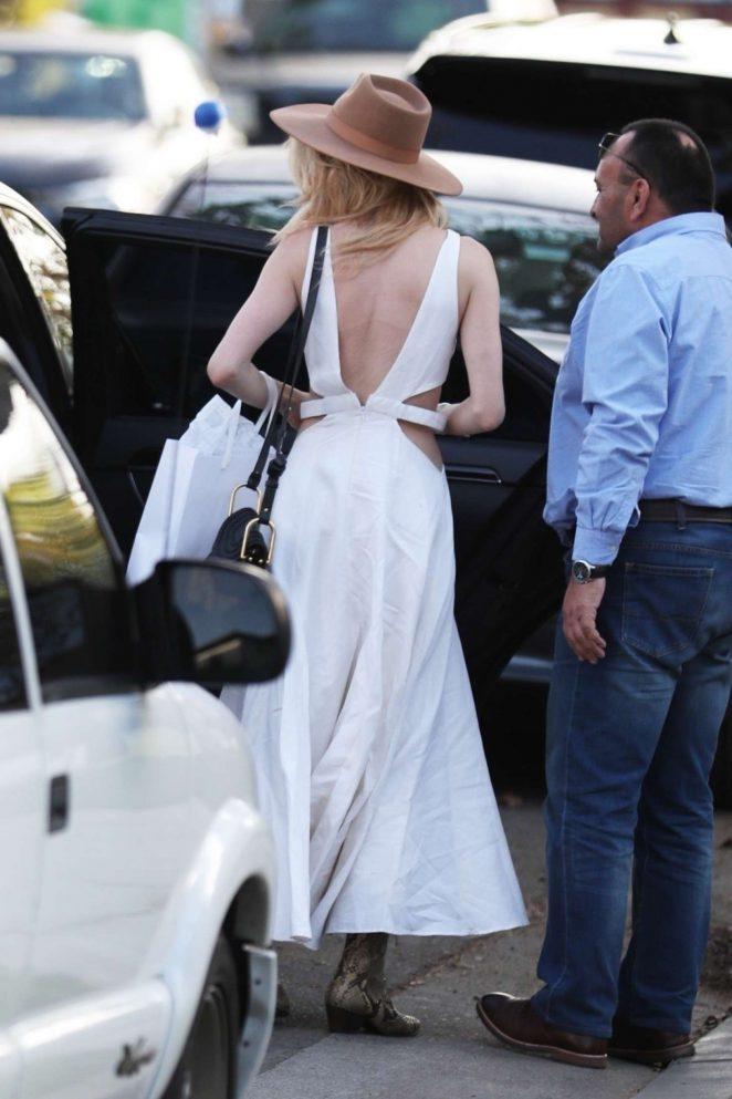 Amber Heard 2018 : Amber Heard in White Long Dress -10
