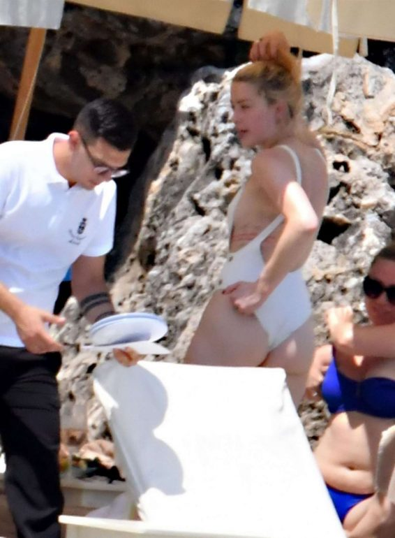 Amber Heard 2019 : Amber Heard in White Swimsuit 2019-13