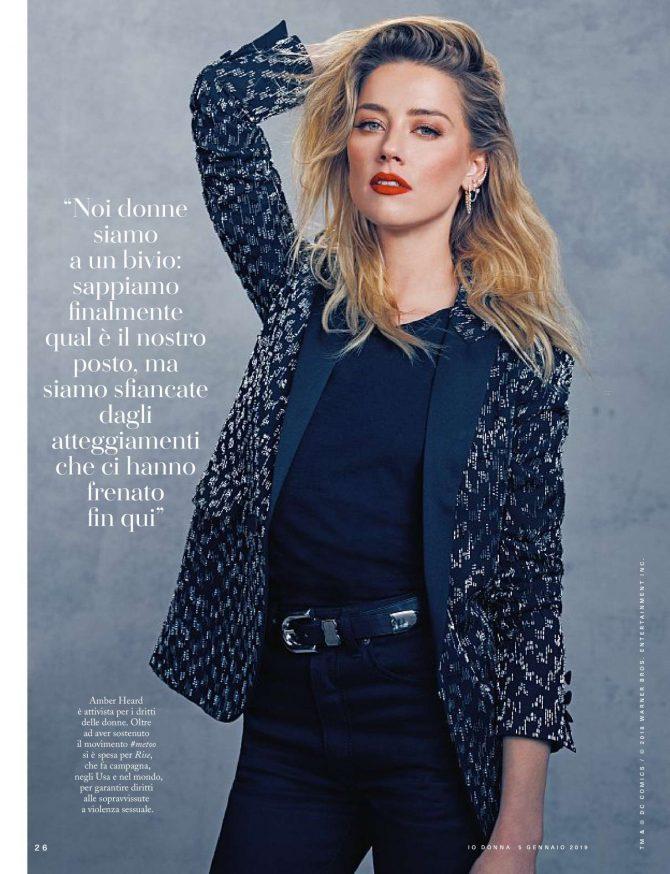 Amber Heard – Io Donna del Corriere della Sera (January 2019)