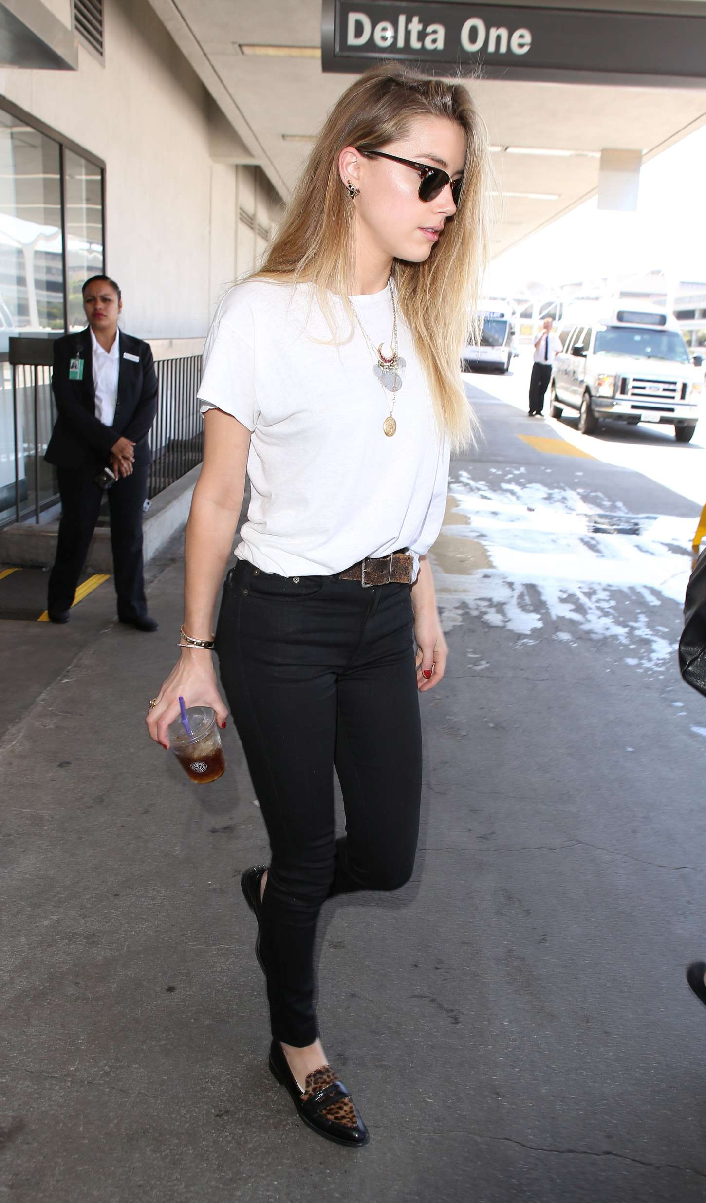 Amber Heard in Tight Jeans at LAX airport in LA