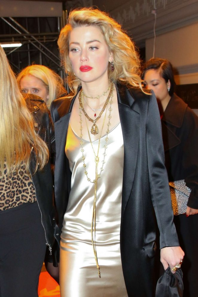 Amber Heard - Leaves the L'Oreal Event in New York