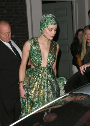 Amber Heard - Leaving 'Aquaman' After Party in London