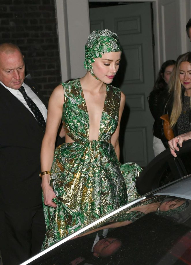Amber Heard – Leaving 'Aquaman' After Party in London