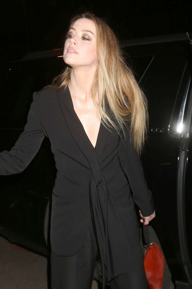 Amber Heard - Leaving her hotel in NYC