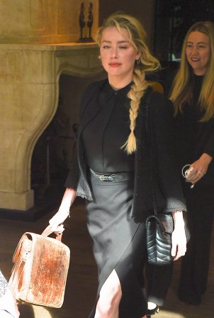 Amber Heard - Leaving her hotel on her way to the high court in London
