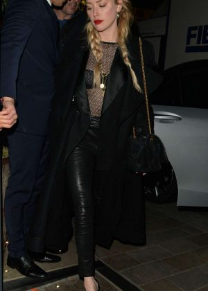 Amber Heard - Leaving Mayfair Hotel in London