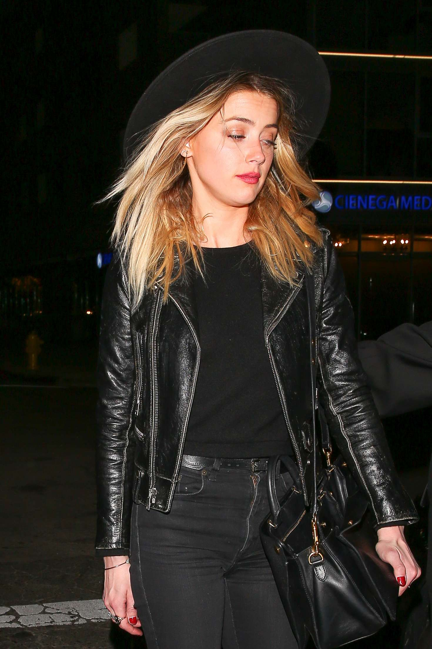Amber Heard - Leaving Rihanna's Christmas Party at The Nice Guy in West Hollywood