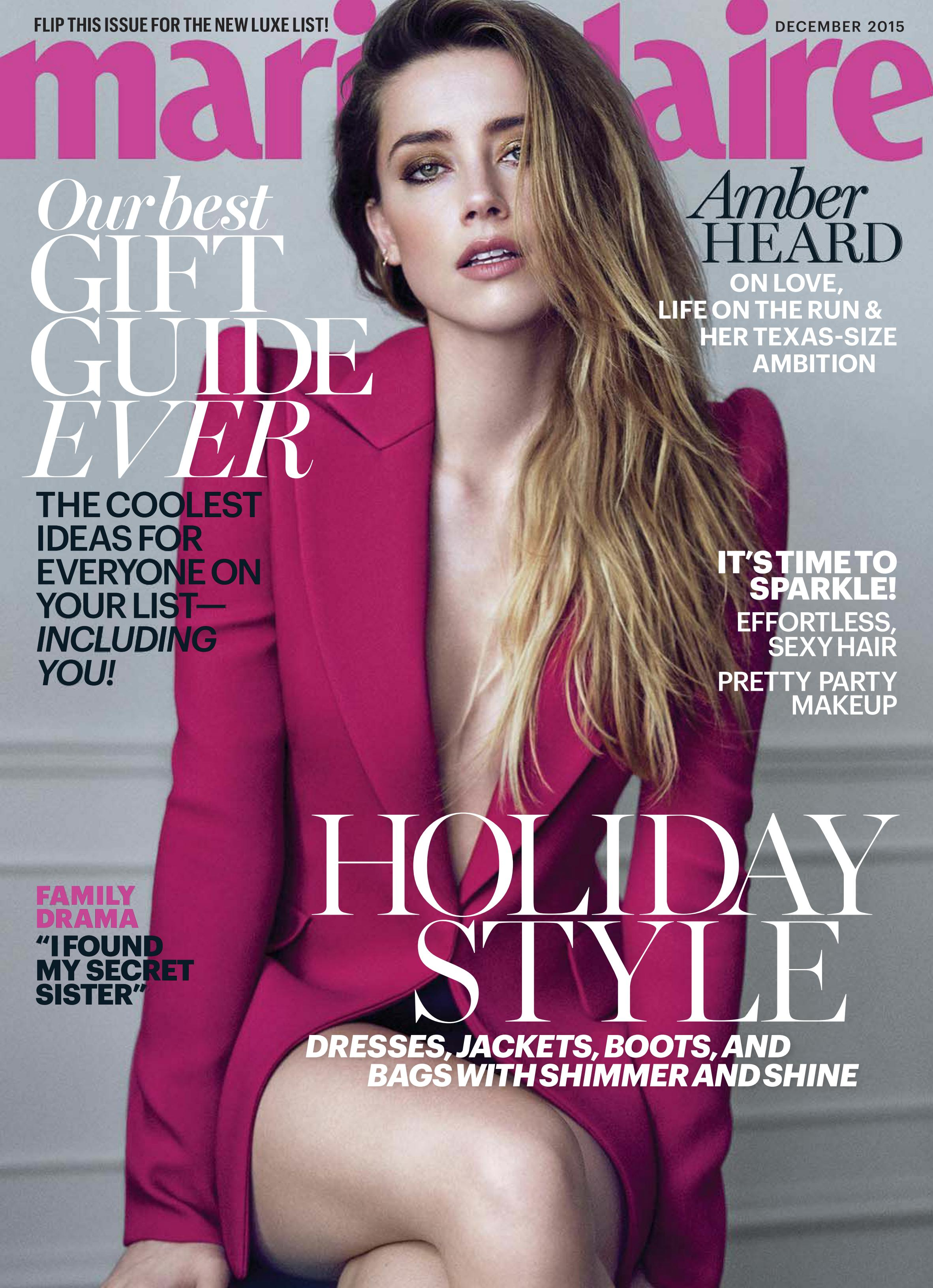 Amber Heard Marie Claire Magazine December 2015 Gotceleb